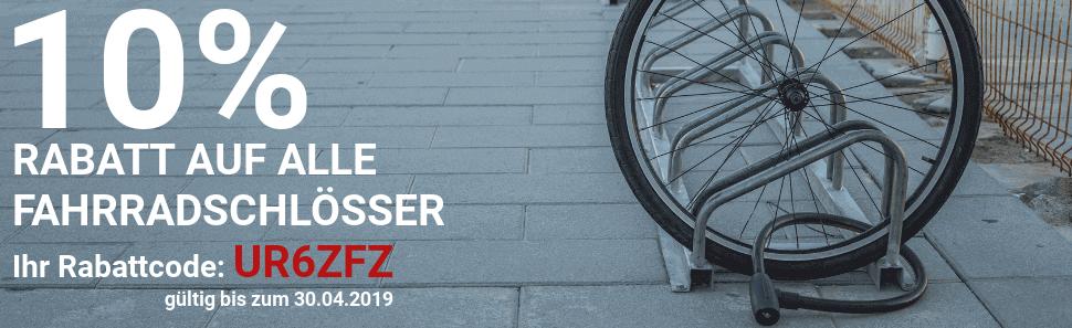 Rabattaktion Fahrradschlösser