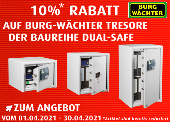 April Burg Wächter Tresore Dual Safe