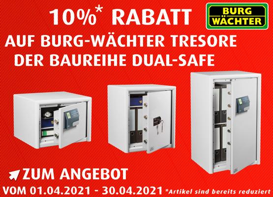 April Burg Wächter Tresore Dual Safe