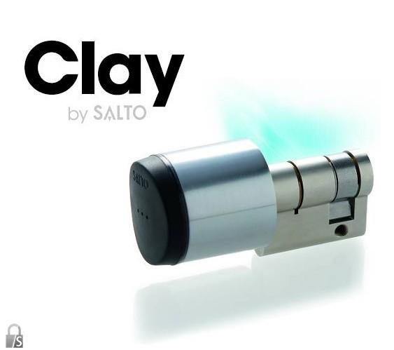 Salto KS elektronischer Halbzylinder-30 mm-Chro...