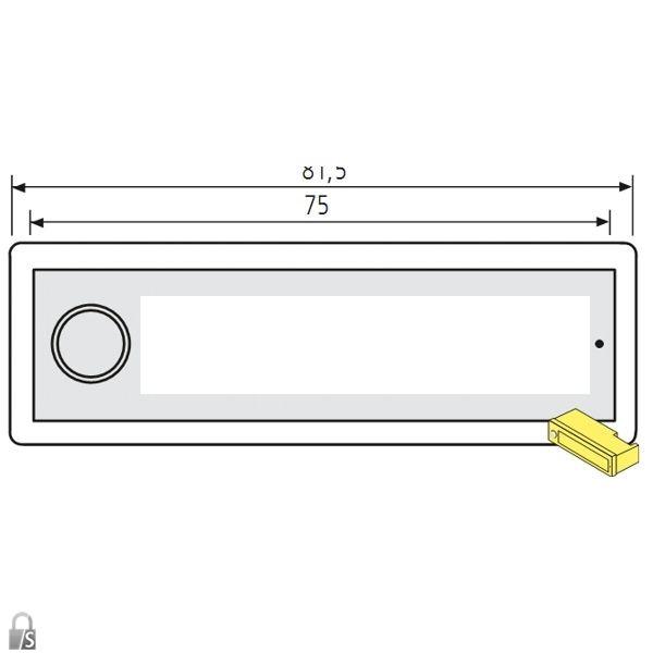 renz klingeltaster rsa2 kompakt ersatzteile postk sten. Black Bedroom Furniture Sets. Home Design Ideas