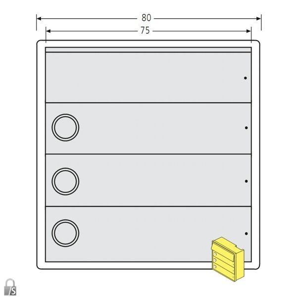 renz tastenmodul rsa2 kompakt 3 klingeln ersatzteile. Black Bedroom Furniture Sets. Home Design Ideas