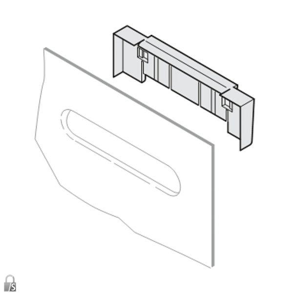 renz rsa1 namensschildhalterung f r briefk sten. Black Bedroom Furniture Sets. Home Design Ideas