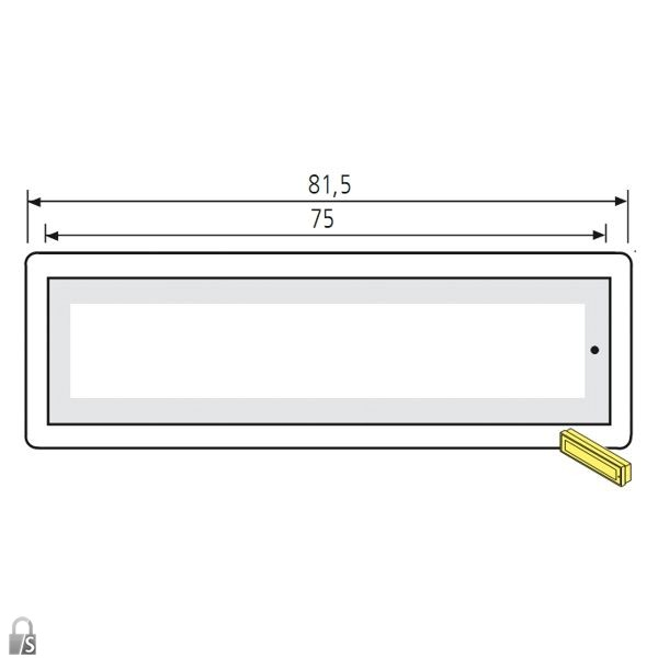 renz rsa2 namensschild ohne gravur ersatzteile. Black Bedroom Furniture Sets. Home Design Ideas