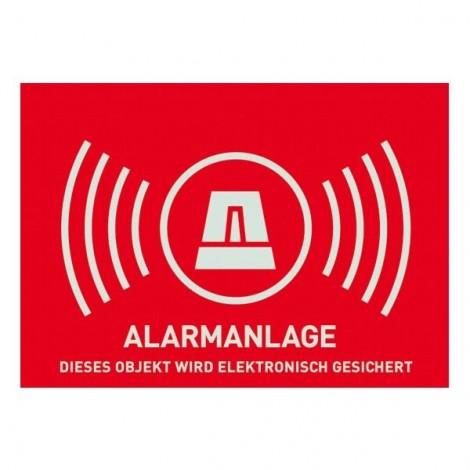 Warnschild Alarmanlage