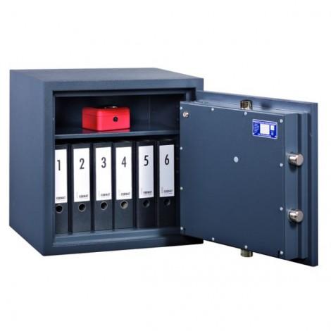FORMAT Wertschutzschrank Topas Pro 10 im geöffnetem Zustand in Graphitgrau (RAL 7024)