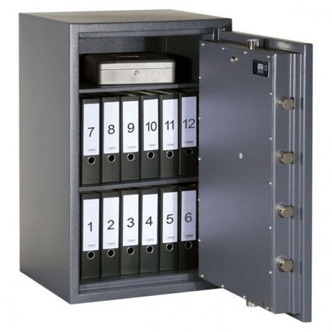 FORMAT Wertschutzschrank Rubin Pro 30 im geöffnetem Zustand in Graphitgrau (RAL 7024)