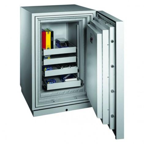 FORMAT Datensicherungstresor Fire Star PLUS 3 im geöffnetem Zustand in RAL 7035 (Lichtgrau)