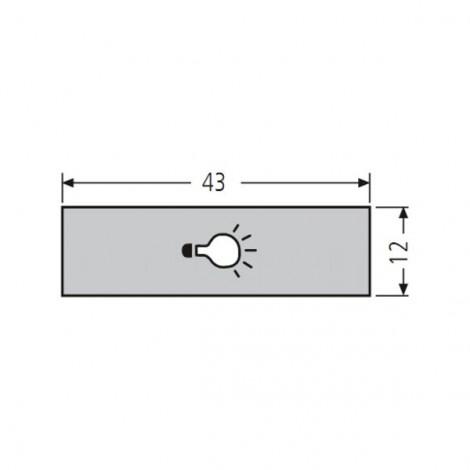 RENZ Lippert Kunststoff-Lichttastereinlage