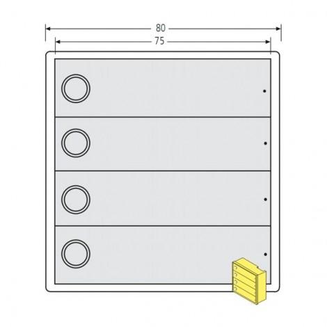 renz tastenmodul rsa2 kompakt 4 klingeltaster. Black Bedroom Furniture Sets. Home Design Ideas