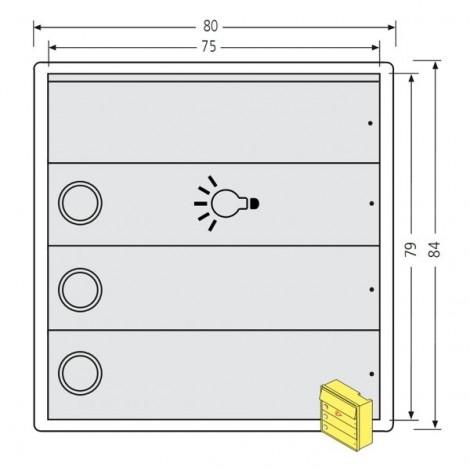renz tastenmodul rsa2 kompakt 2 klingelschilder 1. Black Bedroom Furniture Sets. Home Design Ideas
