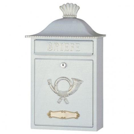 HEIBI Stahl-Briefkasten Mereno - mit Posthorn