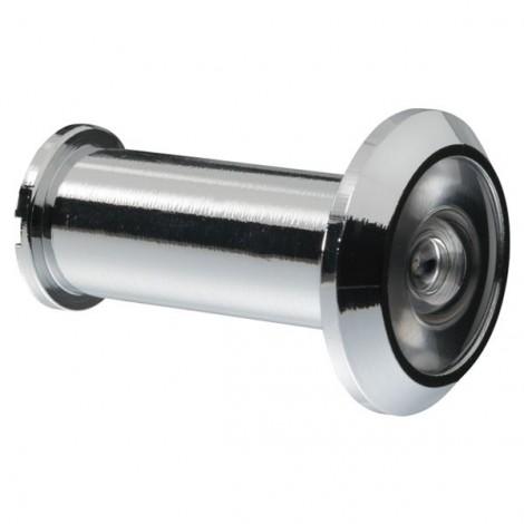 ABUS Türspion 1200 - mit Weitwinkeloptik ( 200 Grad ) in Silber