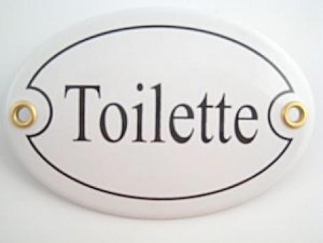 Münder-Email Türschild - Toilette
