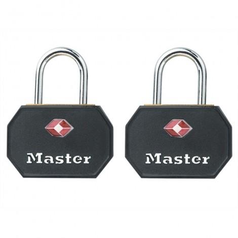Master Lock 2er Set TSA Vorhangschloss 4681EURTBLK