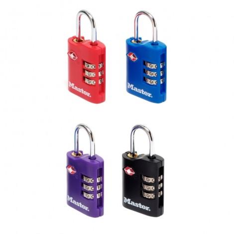 Master Lock 2er TSA Zahlen-Vorhangschloss Set 4686EURT