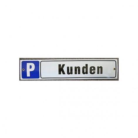 Münder-Email Schild - Kundenparkplatz