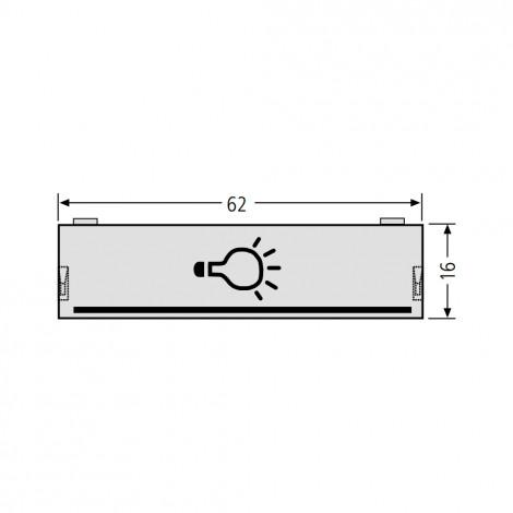 RENZ Lichttasterabdeckung 97-9-82047 - Einbau bis 2006