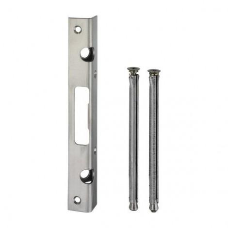IKON Winkel-Schließblech - mit 2 Ankern - für Riegelschlösser