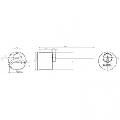 Kaba gemini pluS Außenzylinder Typ ABUS Maßzeichnung