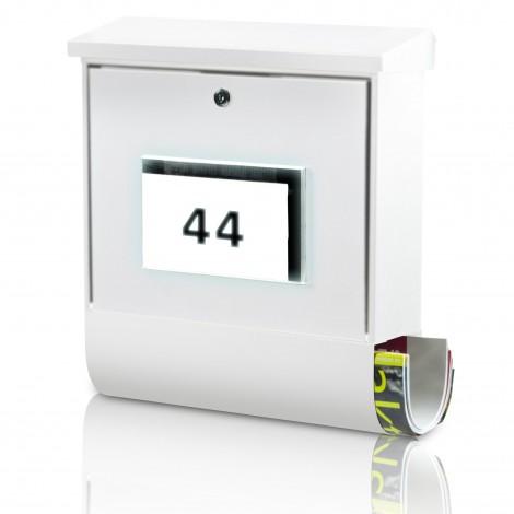 Burg Wächter Solar-Briefkasten Malaga 4400 weiß