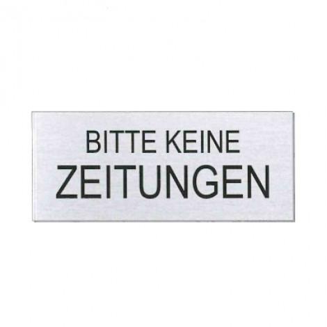 """Ofform Briefkastenschild """"Bitte keine Zeitung"""""""