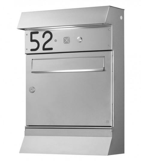 HEIBI Edelstahl-Briefkasten Malypso Fix mit Zeitungskasten