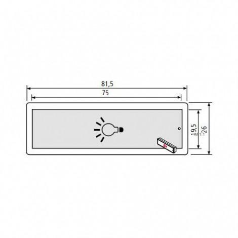 renz rsa2 namensschild mit symbol gl hbirne ersatzteile. Black Bedroom Furniture Sets. Home Design Ideas