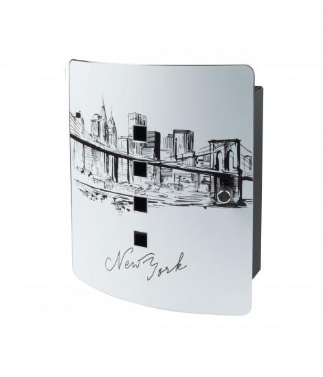 Burg Wächter Motiv Schlüsselbox Skyline NY