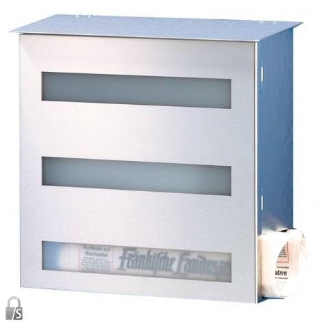 HEIBI Edelstahl-Briefkasten Gecco mit Acrylglasscheibe