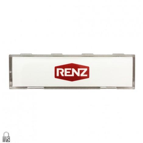 RENZ Kunststoff-Namenschildabdeckung mit Namensschildeinlage