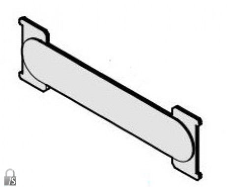RENZ ALU Namensschild RSA - 72 x 21 mm