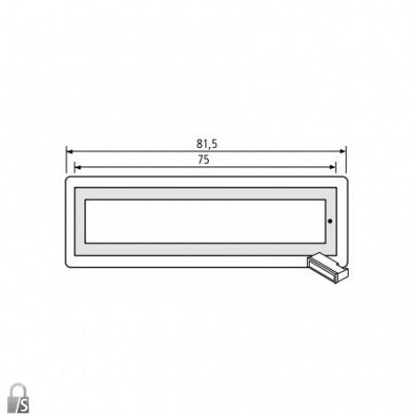 renz rsa2 namensschild f r rsa2 klingel ersatzteile. Black Bedroom Furniture Sets. Home Design Ideas