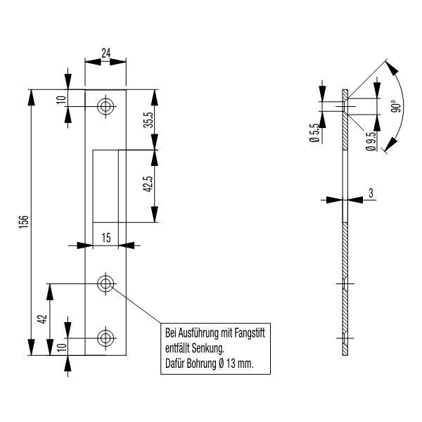 bks flach schlie blech s448 schliessbleche. Black Bedroom Furniture Sets. Home Design Ideas