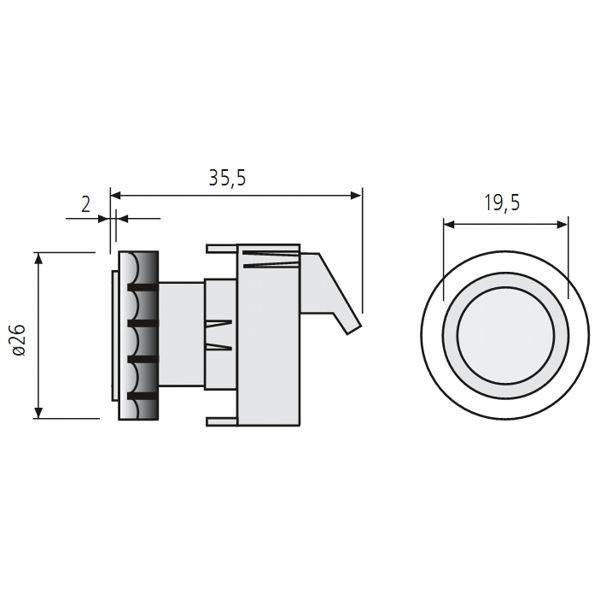 renz lichtknopf rsa2 ersatzteile postk sten. Black Bedroom Furniture Sets. Home Design Ideas
