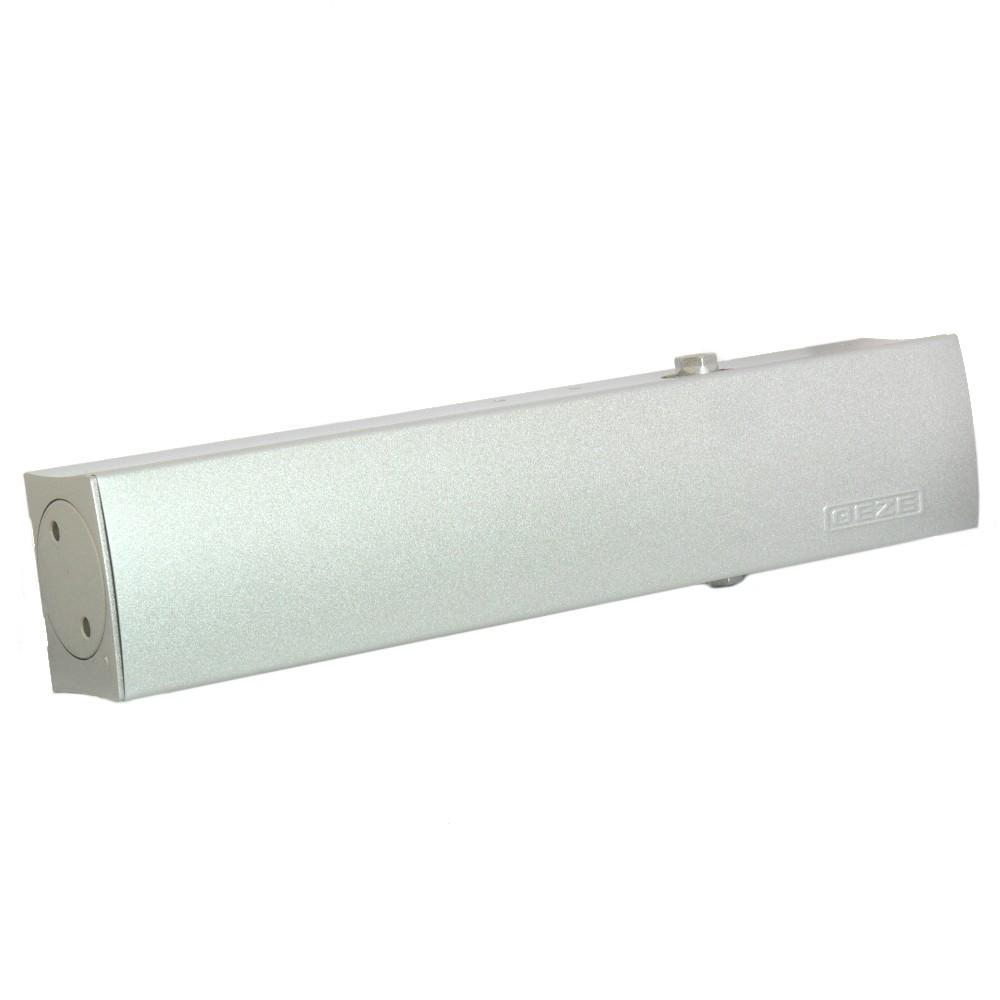 GEZE Türschließer TS 4000 V mit Gestänge silber,weiß,braun Montageplatte