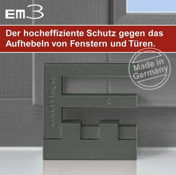 Scheffinger em3 riegel fenstersicherungen fensterzusatzsicherungen sicherheitstechnik shop - Fenstersicherungen gegen aufhebeln ...