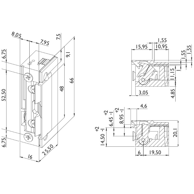 DORCAS elektrischer Türöffner D-99.2/N.U2/FLEX - Elektrische ...