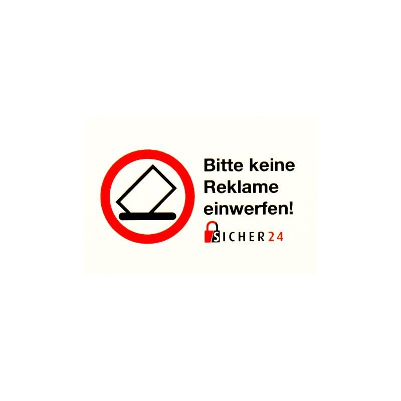 Briefkastenaufkleber Bitte Keine Reklame Einwerfen