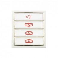 Tastenmodul mit 1 Lichttaster und 3 Klingeltaster