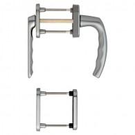 HOPPE Atlanta Fenstergriff-Rosettengarnitur - F9 Aluminium Stahl