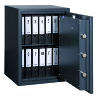 FORMAT Wertschutzschrank Topas Pro 20 im geöffnetem Zustand in Graphitgrau (RAL 7024)