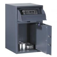 FORMAT Depositschrank Einsatzdeposit 1 im geöffnetem Zustand in RAL 7024 (Graphitgrau)