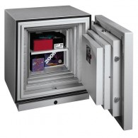 FORMAT Datensicherungstresor Fire Star 1 im geöffnetem Zustand in RAL 7035 (Lichtgrau)