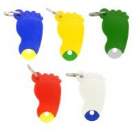 Schlüsselanhänger Fuß mit Schlüsselring
