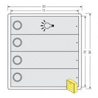 RENZ Tastenmodul RSA2 kompakt - 3 Klingel- & 1 Lichttaster