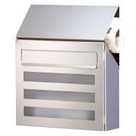 HEIBI Edelstahl-Briefkasten Terno mit Acrylglasscheibe
