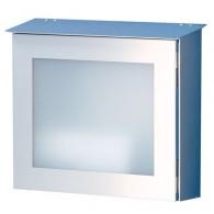 HEIBI Edelstahl-Briefkasten Parno mit Acrylglasscheibe