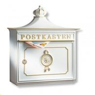 Burg Wächter Alu-Guss Briefkasten Bordeaux weiß