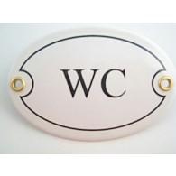 Münder-Email Türschild - WC